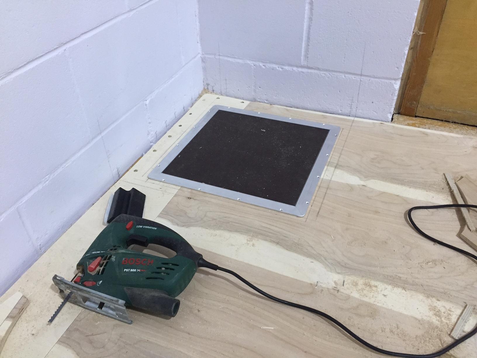 School fitness studio floor installation by Sports Surfaces UK