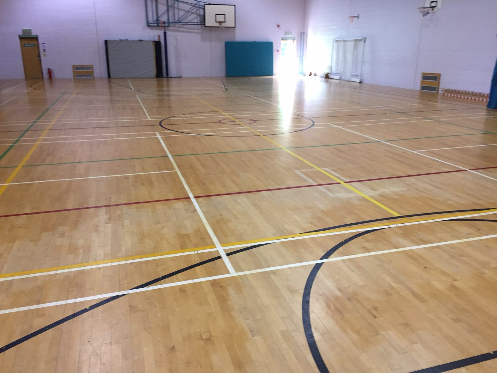 School sports hall floor installation by Sports Surfaces UK