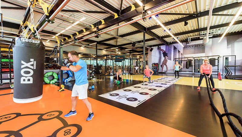 Indoor fitness and gym studio sports flooring