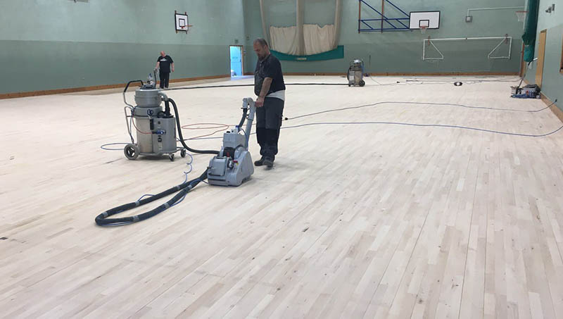 Indoor sports floor leisure centre maintenance and cleaning