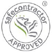 safe contractor logo on Sports Surfaces UK website