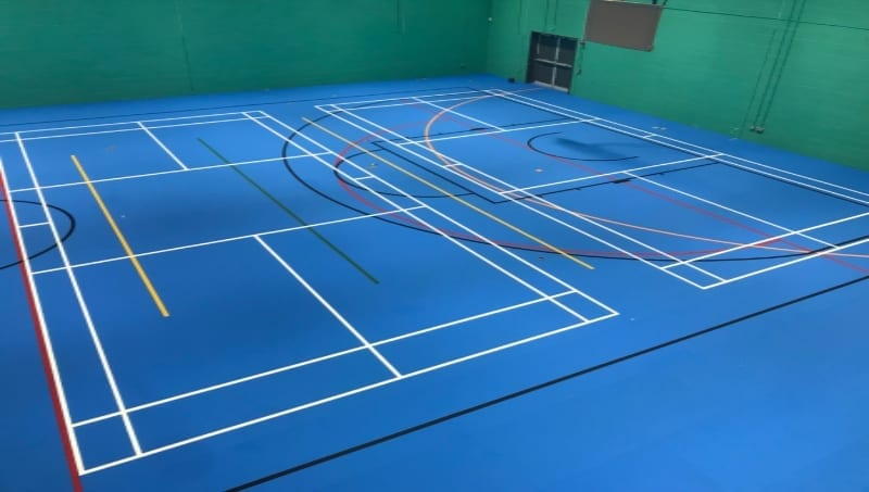 Uni-Turf floor for indoor Leisure Centre and school Sports halls