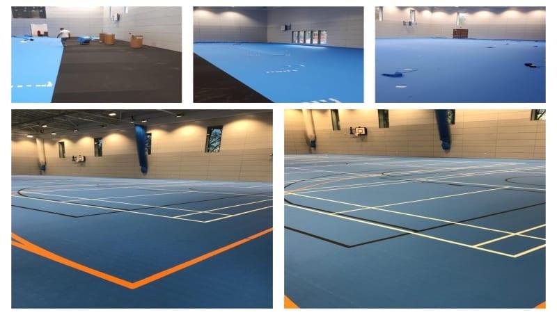 A MEGA multifunctional Uni-Turf sports floor at King Edwards
