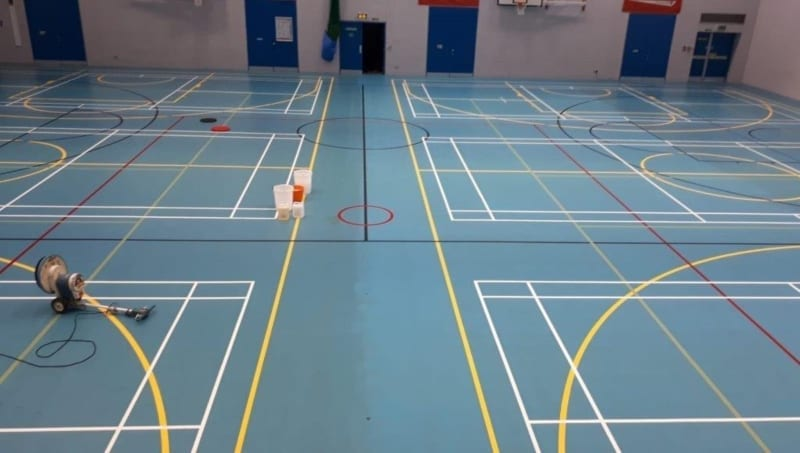 Deep clean for University Pulastic Leisure centre sports floor