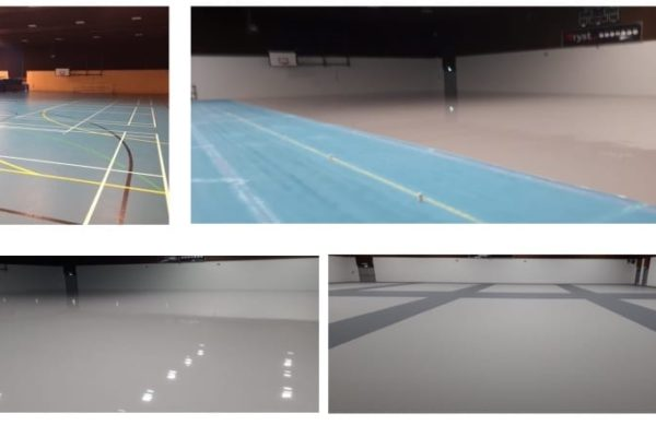 Pulastic Leisure centre sports floor Facelift by Sports Surfaces UK