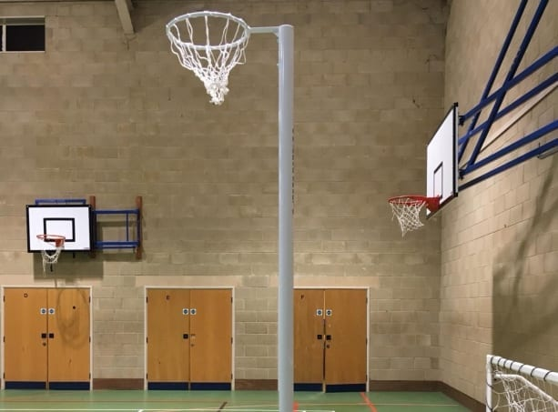 Netball posts installed and court repaired by Sports Surfaces UK