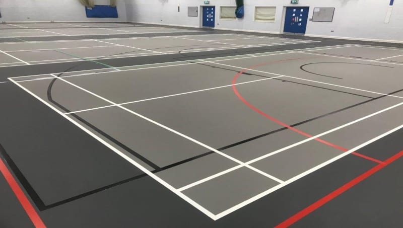 After a pulastic Facelift on multi-use Leisure centre sports floor