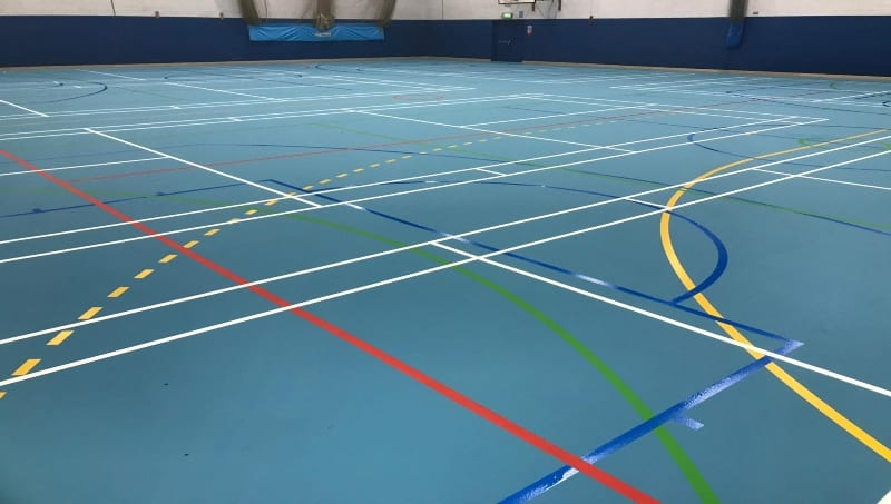 School leisure centre sports floor