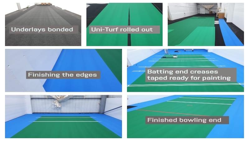 Uni-turf sports floor for Cricket Club