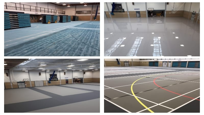 Indoor Sports Floor Multi-Use Pulastic Facelift sports surface