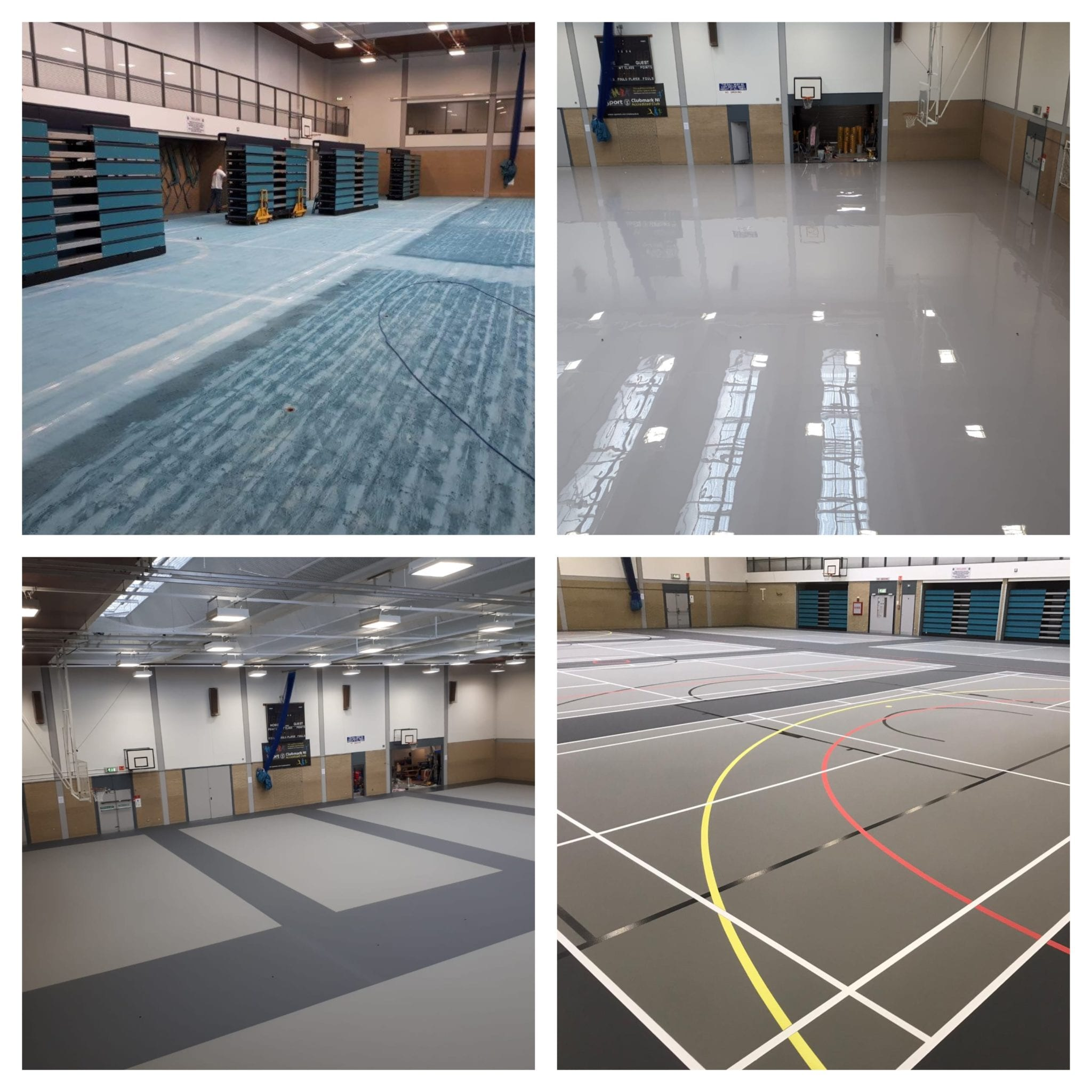 Pulastic Facelift on Multi-Use Leisure Centre Sports floor