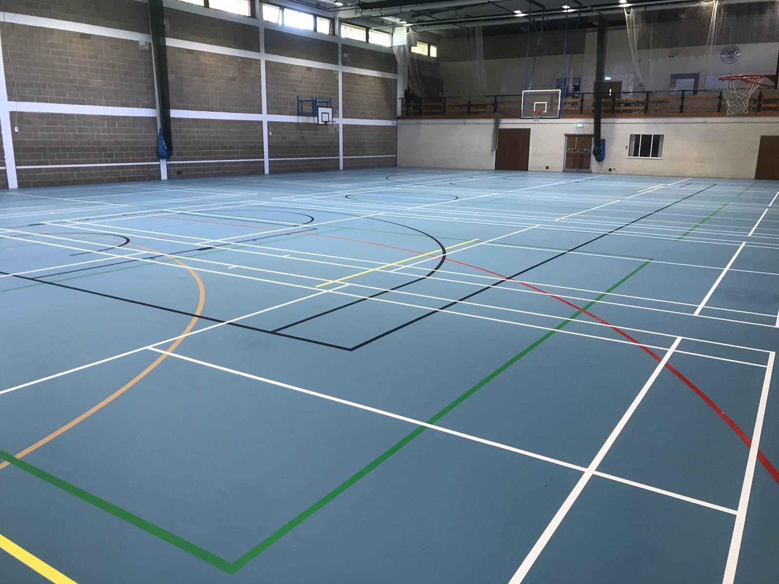 Bedford School Indoor Sports Floor Install and Repair