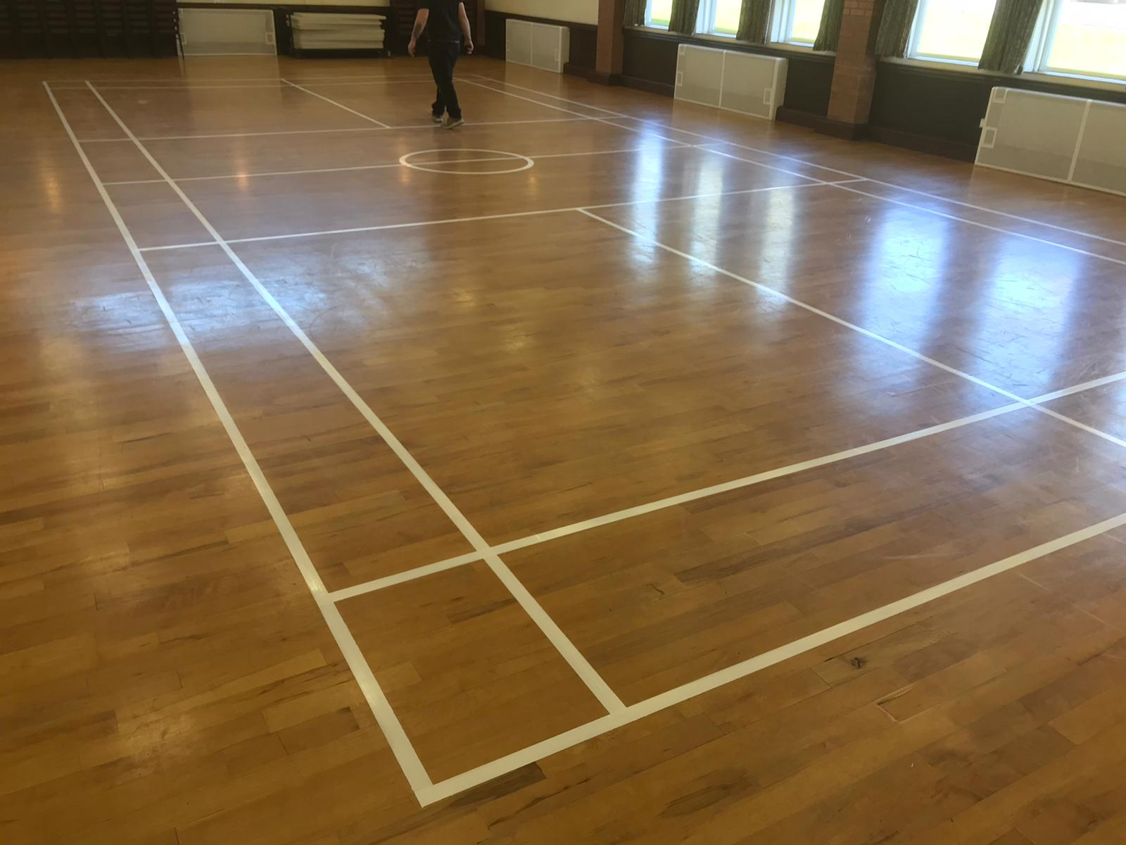 A refreshed timber sports floor for Kelsall Community Centre