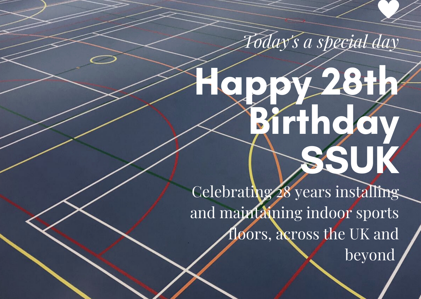 Happy Birthday Sports Surfaces UK