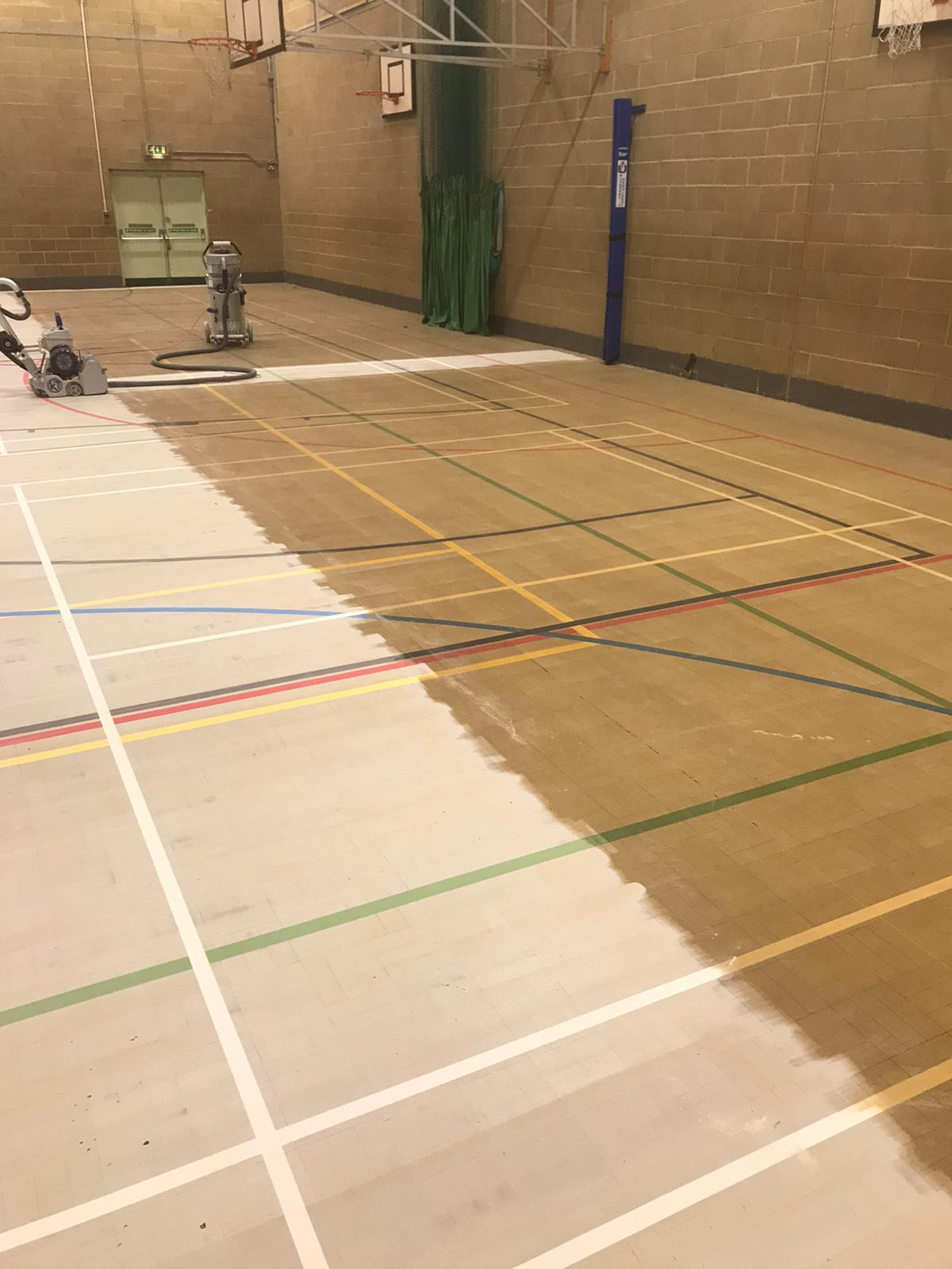 Tiffin School sand and seal plus line marking 12 new courts complete!