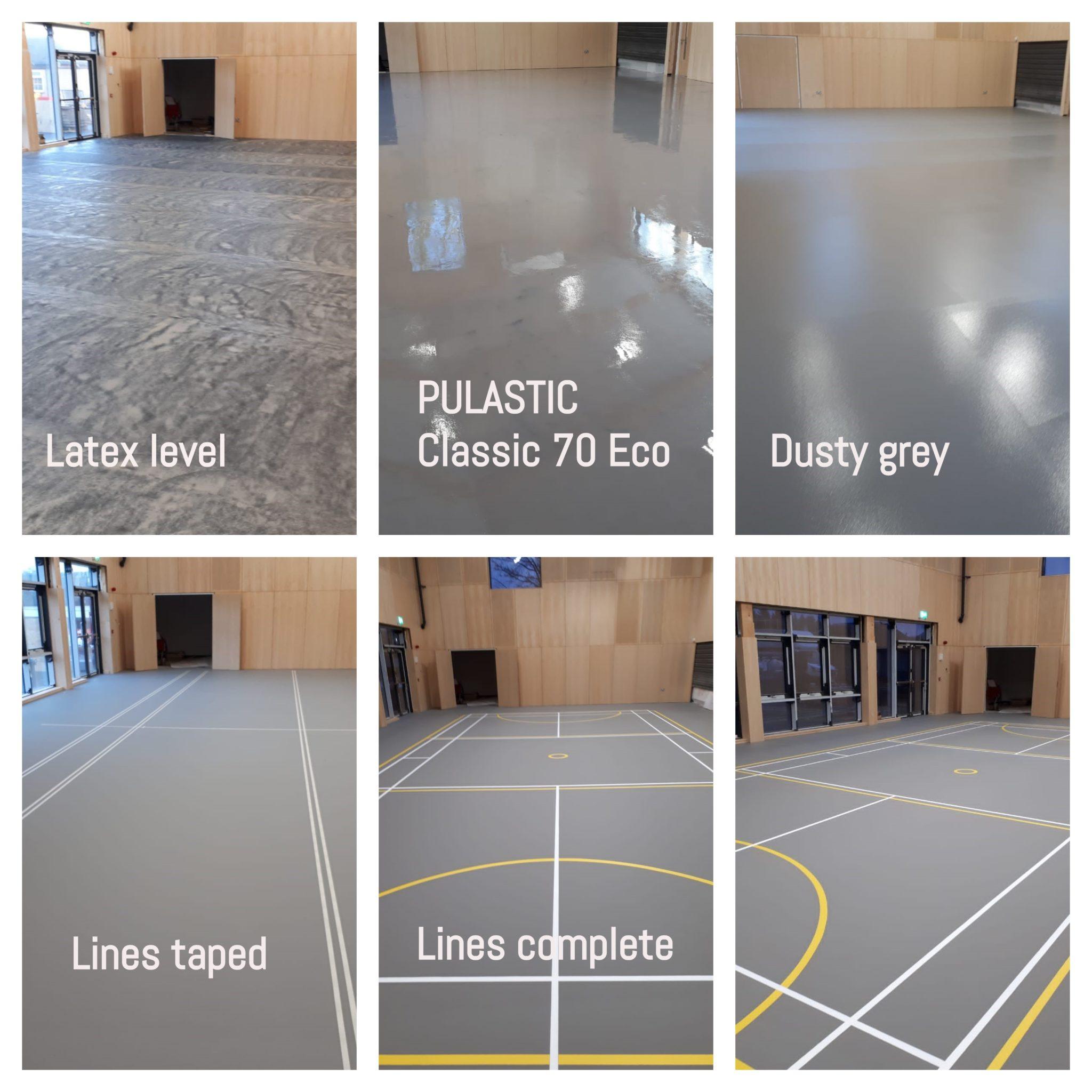Longforgan Primary School brand new Pulastic Eco 70 Sports Floor.
