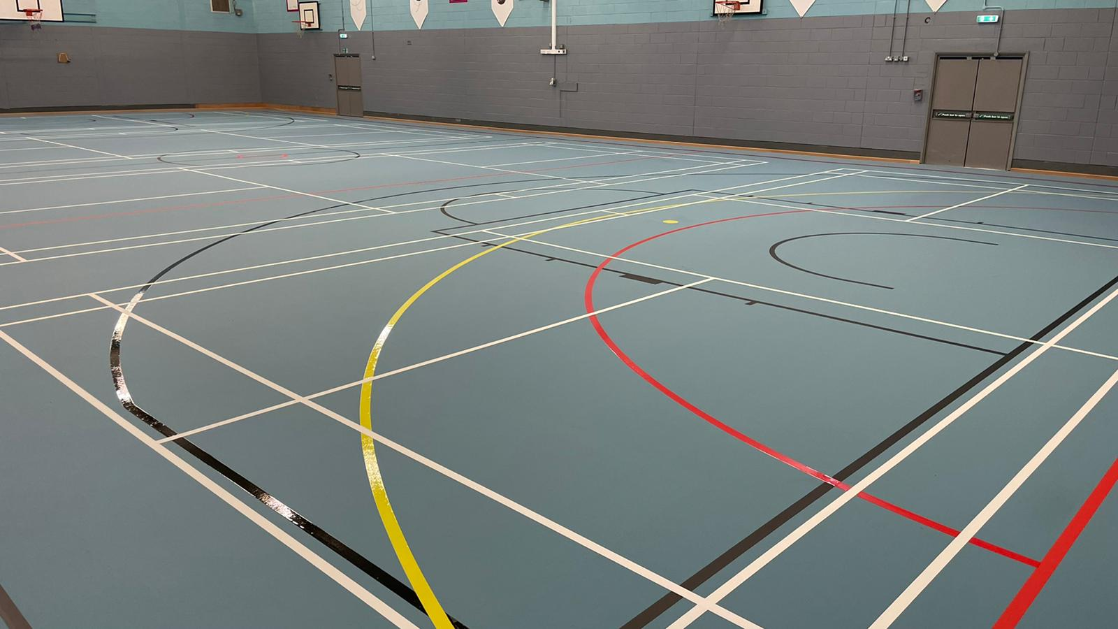 January 2021-  Garston Leisure Centre, a fantastic multiuse floor for the whole community to enjoy