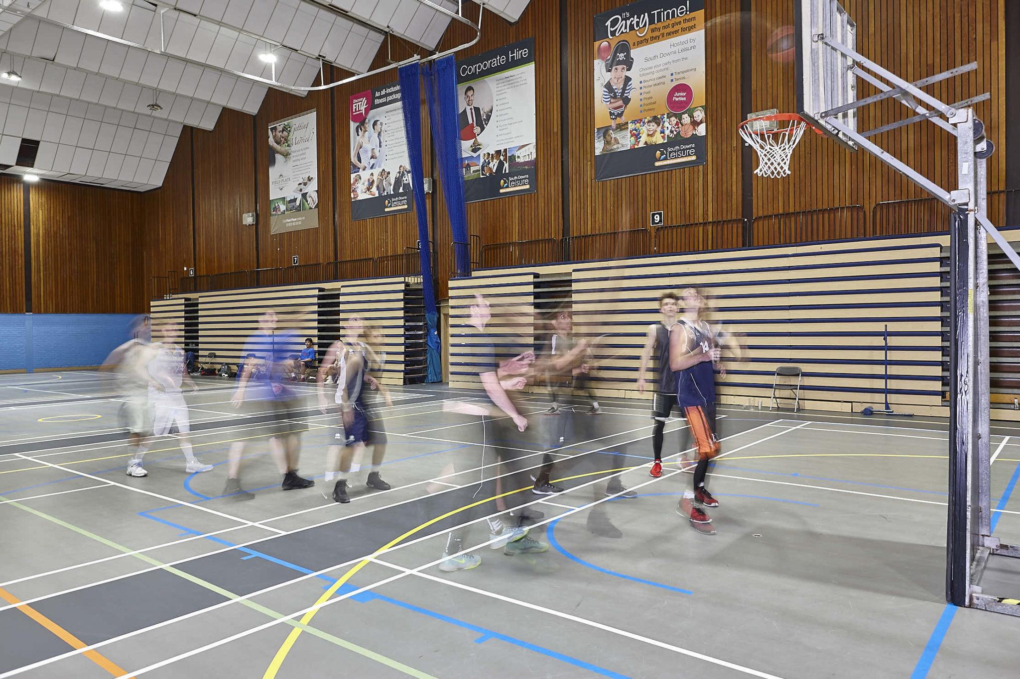 Indoor multiuse sports flooring