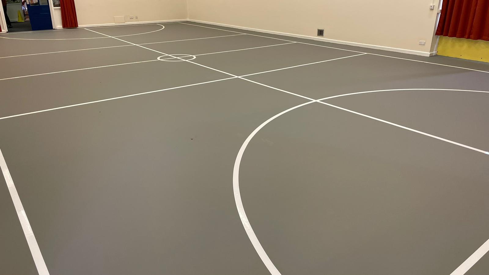 indoor sports floor installation