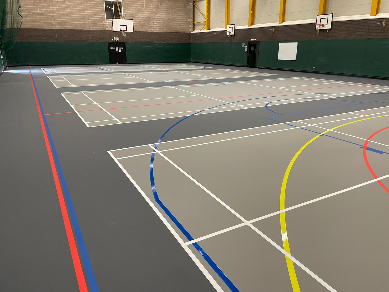 New roller skating floor at a Manor Farm in Walsall