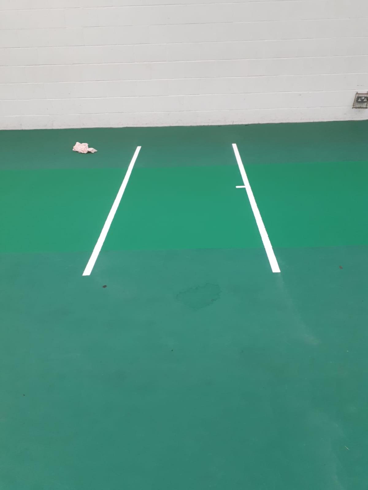 Hills Road Sports & Tennis Centre – Uni-Turf indoor cricket floor maintenance.